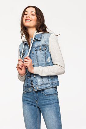 outlet store 67bd0 d90a4 Giacca di Jeans e Felpa Grigia   Lookbooks   TALLYWEiJL ...