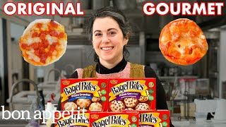 Pastry Chef Attempts To Make Gourmet Bagel Bites Gourmet Makes Bon Appetit Viralvideo Youtube 10vv In 2020 Bagel Bites Gourmet Bites Gourmet