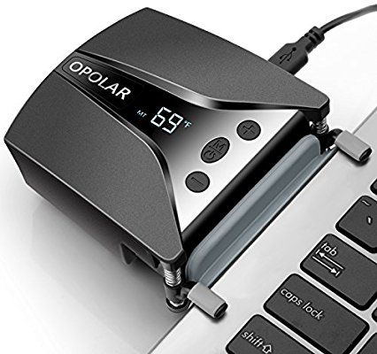 Amazon Com Laptop Fan Cooler With Temperature Display Rapid