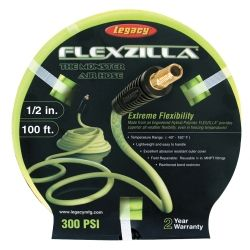"""NEW Flexzilla Air Hose 1//2/"""" x 100/' with 3//8/"""" MNPT Fittings Flexible Rubber"""