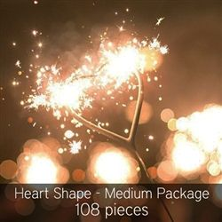 Heart Shaped Wedding Sparklers 108 Pieces Pinterest Shapes And