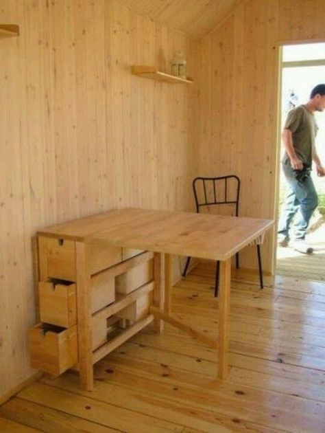 Save Space By Building Your Own Foldable Craft Table Expandable