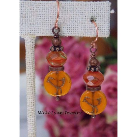 It's that time of year where everything is Pumpkin spice and these #earrings included! Hues of Autumnand birds get ready to soar through theair. Match these with your favo... #boho_earrings #clearance:y #fall #jewelry #nin:t1 #nin:y #orange #rustic #sale #victorian #vintage_style