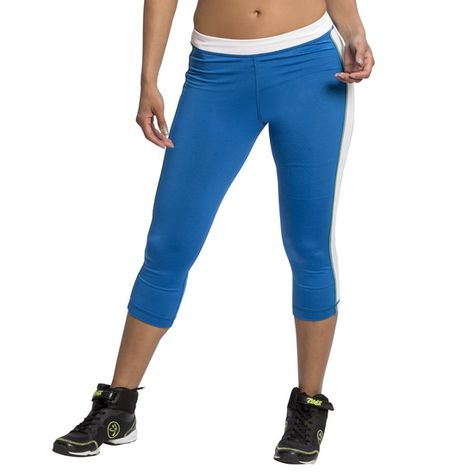 Zumba Fitness Damen Dance Fitness Pants Workout Print Capri Leggings for Women Caprihose