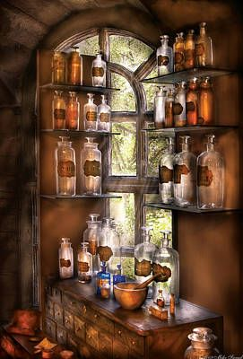 Witch Cottage, Witch House, Estilo Country, Kitchen Witchery, Hdr Photography, Potion Bottle, Apothecary Jars, Book Of Shadows, Fine Art America