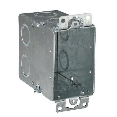 Steel City 3 In Steel Electrical Switch Box With Conduit Knockouts Case Of 25 Galvanized Metal Metal Electrical Box Steel