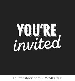 You Re Invited Text Vector Illustration Background Youre Invited Invitations Vector Illustration