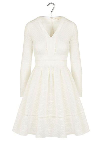 robe maje blanche laine