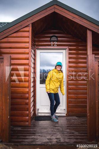 Woman In Yellow Jacket In Front Of House Door In Iceland Ad Sponsored Jacket Yellow Woman Front Iceland In 2020 House Front House Doors House