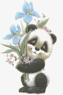 hand-painted panda,cartoon panda,drawing panda,creative kitten,blue flowers,play,hand-painted,panda,cartoon,drawing,creative,kitten,blue,flowers,panda clipart