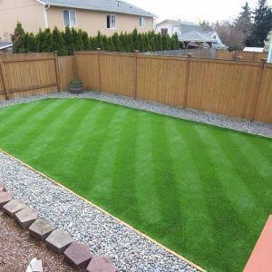 Synthetic Turf Backyard for modern backyard decoration with