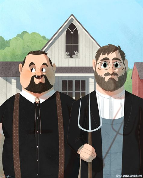 His & His. The *new* American Gothic.