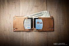 Minimal Leather Wallet Mens leather wallet bifold by MrLentz, $64.00