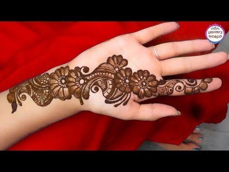 Hand Simple Mehndi Designs Front Side