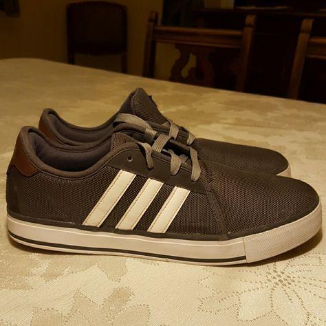 Adidas Neo Skate Shoe Graphite with white classic three