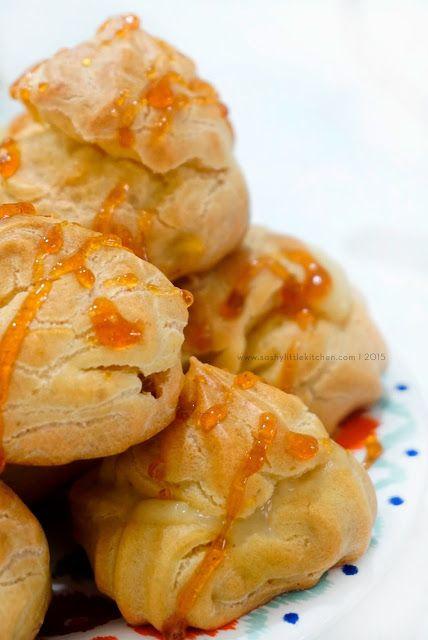 Soes Vla Durian Bali Food Blogger Resep Dan Review By Sashy Little Kitchen Di 2020 Makanan Kue Camilan Resep