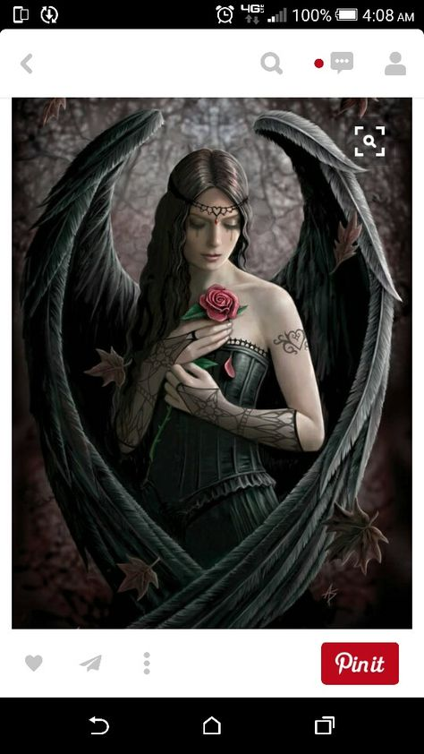 Anne Stokes Angel Rose Wall Print POSTER Decor AFFICHE