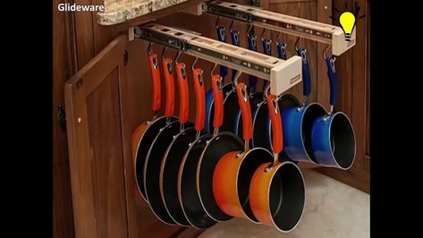 Pull-out cabinet organizer for pots and pans | Rustic pot ...