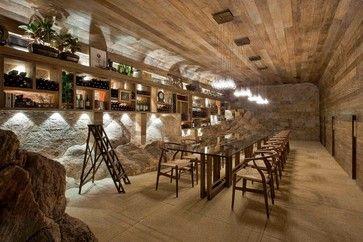Montain Home Rustic Wine Cellar Other Metro Eduarda Correa Arquitetura Interiores Cave A Vin Salle De Degustation Amenagement Cave A Vin