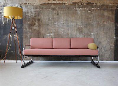 Art Deco Sofa Daybed Stahlrohr Streamline Schlafsofa Bauhaus 30er