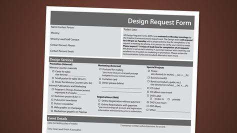 Design Request Form Free Melt Pinterest