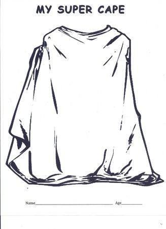 Superhero Cape Coloring Page Superhero Capes Superhero Coloring Pages