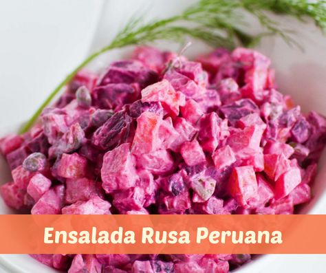 Como Preparar Ensalada Rusa Peruana Ensalada Rusa Receta Recetas Peruanas Como Preparar Ensaladas