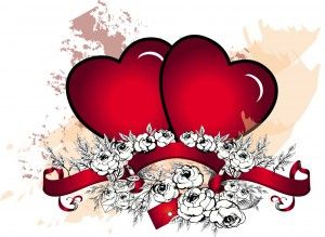 Two grunge hearts with roses vector - Free Download - CGIspread