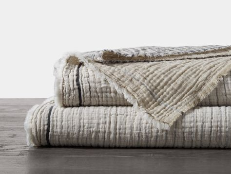 Matelassé woven from pure organic cotton, our Topanga blanket is whimsical, drapey and lightweight. Brown Bed Linen, Neutral Bed Linen, Linen Bedding, Bedding Sets, Bed Linens, Comforter, Coastal Bedrooms, Boho Home, Minimalist Decor
