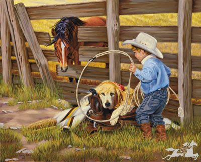 A Golden Opportunity by Pam Parker   Western art, Equine