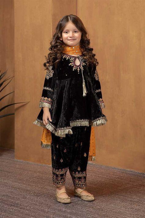 Suit Black Mks W19 05 Kids Fashion Dress Kids Designer Dresses Velvet Dress Designs