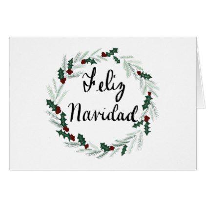 Feliz Navidad Card Holiday Card Diy Personalize Design Template Cyo Cards Idea Christmas Cards Cards Santa Claus Cards