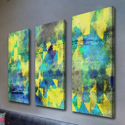 Marmont Hill Eastern Glow Triptych Painting Print On Wrapped Canvas Wayfair Ca Painting Painting Prints Canvas Art Prints