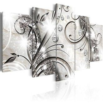 Contemporary Chic And Exquisite Silver Wall Art Home Wall Art Decor Silver Wall Art Flower Canvas Wall Art Floral Wall Art Canvases