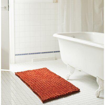 Ebern Designs Diondre High Pile Chenille Bath Rug Bath Mat Bath