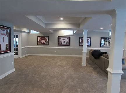 Basement Remodel In Frederick Md 21702 With White Painted Trim By