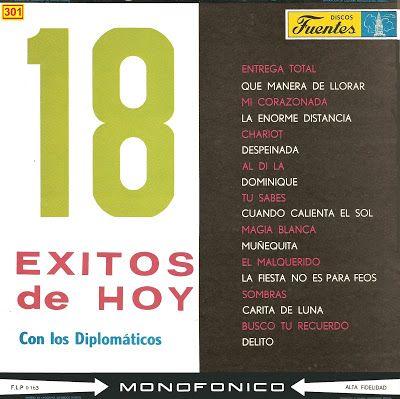 Musicoteca Alay Los Diplomáticos 18 éxitos De Hoy Con Los Diplom Exito Santiago De Cuba Magia Blanca