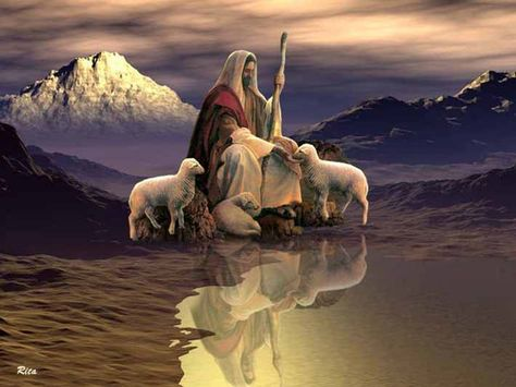 """""""The Lord is my shepherd, I shall not want..."""""""