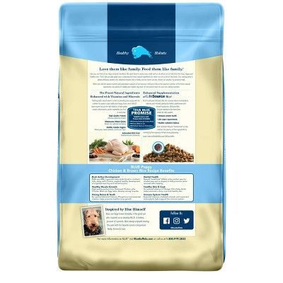Blue Buffalo Puppy Chicken Brown Rice Dry Dog Food 15lb Dog