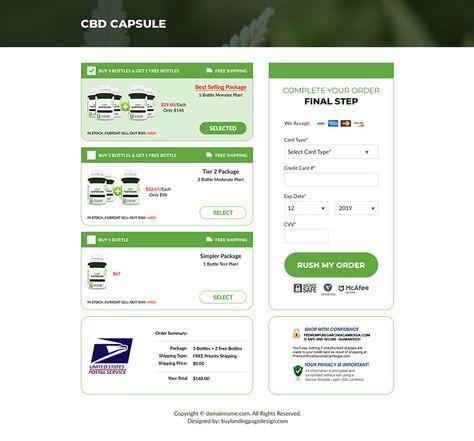 cbd-capsules-pain-relief-responsive-lp-011 | Pain Relief Landing Page Design preview.