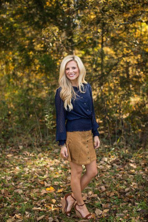 Emma Kate's Corduroy A Line Skirt