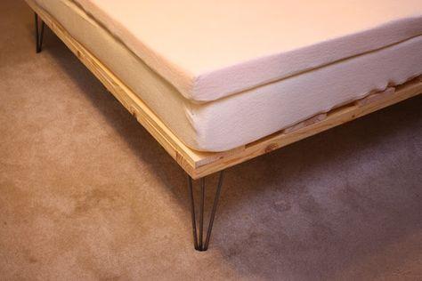 My So Called Handmade Life Cheap Diy Memory Foam Platform Bed