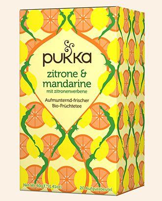 Zitrone & Mandarine Pukka Tee Bio, 20 Teebeutel