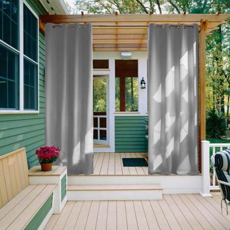 Outdoor Waterproof Grommet Top Curtains