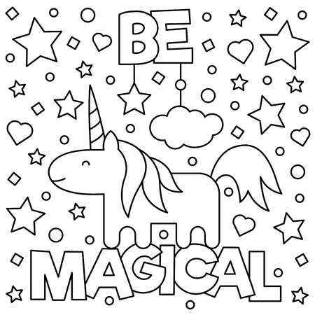 Unicorn Coloring Page Vector Illustration Unicorn Coloring Pages Coloring Pages Inspirational Coloring Pages For Kids