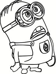 Minion Of Despicable Me Minion Coloring Pages Minions Coloring Pages Cartoon Coloring Pages