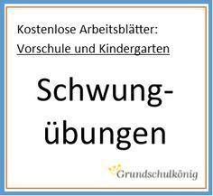 erste Schwungübungen | Kindergarten, School and Montessori