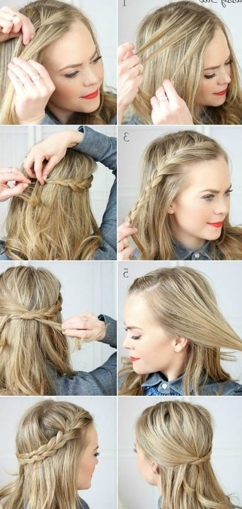 30 French Braids Hairstyles Step By Step How To French Braid Your Own French Braids Hairstyles Step By Step Ho Medium Hair Styles Hair Styles Easy Hairstyles