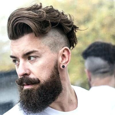 Unique Mens Short Hairstyles With Beard Mens Haircuts Beard Mens From Mens Short Haircut Source Oakscla Undercut With Beard Beard Haircut Long Hair Styles Men