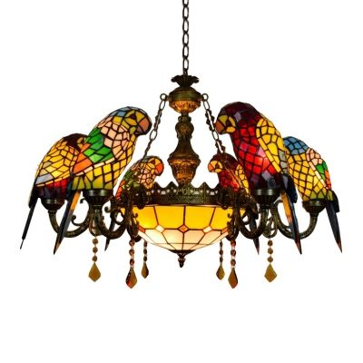 Baycheer Parrot Tiffany Chandeliers 6